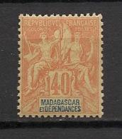 Madagascar - 1896-99 - N°Yv. 37 - Groupe 40c Orange - Neuf Luxe ** / MNH / Postfrisch - Madagaskar (1889-1960)