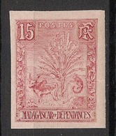 Madagascar - 1903 - N°Yv. 68b - Zébu 15c Rose - Non Dentelé / Imperf. - Neuf Luxe** / MNH / Postfrisch - Madagaskar (1889-1960)