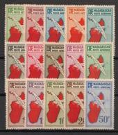 Madagascar - 1935-38 - Poste Aérienne PA N°Yv.  1 à 14 - Série Complète - Neuf * / MH VF - Posta Aerea