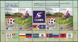 NAGORNO KARABAKH, REPUBLIC OF ARTSAKH , 2019, MNH, FOOTBALL, SOCCER, CONIFA CUP, SHEETLET - Calcio