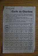 Rationnement - Carte De Charbon Nantes Loire-inferieure - Documents Historiques