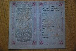 Rationnement - Carte D'alimentation Vierge A Adulte - Documents Historiques