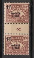 Madagascar - 1942 - Taxe TT N°Yv. 29 - 1f Sur 2c France Libre - Paire Millésimée 8 - Neuf Luxe ** / MNH / Postfrisch - Madagaskar (1889-1960)
