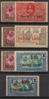 Madagascar - 1942 - N°Yv. 234 à 241 - France Libre - Complet 7 Valeurs - Neuf Luxe ** / MNH / Postfrisch - Madagaskar (1889-1960)
