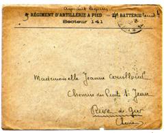 Lettre En Franchise Militaire  SECTEUR 141 Avec Tampon D'arrivée Au Dos  Du12/02/1918 - Marcophilie (Lettres)