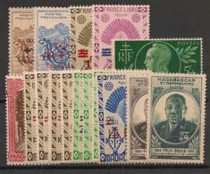 Madagascar - 1944-45 - N°Yv. 284 à 299 - Complet - 16 Valeurs - Neuf Luxe ** / MNH / Postfrisch - Madagascar (1889-1960)