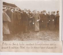 ST CYR LE ROI SERBIE ÉCOUTANT LES EXPLICATIONS ETEVE DIVERS TYPES  18*13CM Maurice-Louis BRANGER PARÍS (1874-1950) - Aviación