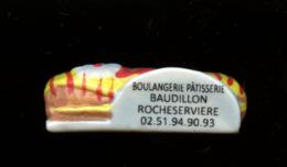 "FEVE - FEVES - ""PERSO"" -   BOULANGERIE - PATISSERIE BAUDILLON à ROCHESERVIERE - ECLAIR ROUGE JAUNE - Geluksbrengers"
