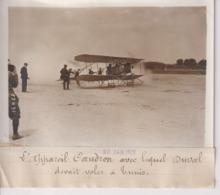 L'APPAREIL CAUDRON AVEC LEQUEL DUVAL DEVANT VOLER A TUNIS   18*13CM Maurice-Louis BRANGER PARÍS (1874-1950) - Aviación