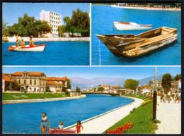 Macedonia Ohrid 1970 / Struga, Rowing Boat, Old Boat, River - Macedonië