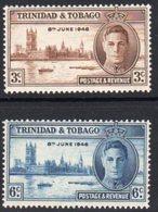 Trinidad & Tobago GVI 1946 Victory Set Of 2, MNH, SG 257/8 - Trinidad & Tobago (...-1961)