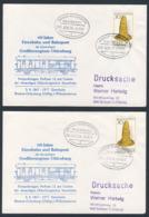Deutschland Germany 1977 2x Brief Cover - 110 Jahre Eisenbahn Und Bahnpost Großherzogtum Oldenburg (1867) - Treinen