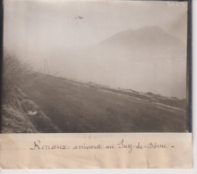 AVIATEURS RENAUX  ARRIVANT AU PUY DE DÔME 18*13CM Maurice-Louis BRANGER PARÍS (1874-1950) - Aviación