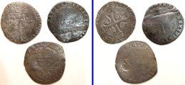 02- FRANCE MÉDIÉVALE - Lot 3 Monnaies En Billon - 987-1789 Könige