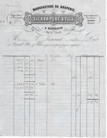 Facture 1857 / 34 BEZIERS  / Beaucaire, Toulouse, Pézénas / SICARD / BEDARIEUX / Manufacture De Draperie - France