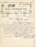 Lettre 1922 / 34  BEDARIEUX / F. SOURLIN / Forge, Charronnage - France