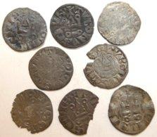 03-FRANCE MÉDIÉVALE - Lot 8 Deniers - 987-1789 Monnaies Royales