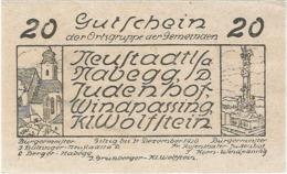 Austria (NOTGELD) 20 Heller Neustadtl  Kon-fs 665 E.2 Escritura Negra UNC Ref 3608-1 - Austria
