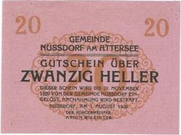 Austria (NOTGELD) 20 Heller Nussdorf  Kon-fs 677 A.2  UNC Ref 3611-1 - Austria