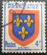 FRANCE Armoirie D'Anjou N°838 Oblitéré - 1941-66 Wapenschilden