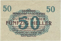 Austria (NOTGELD) 50 Heller Nussdorf  Kon-fs 677 A.3  UNC Ref 3612-1 - Austria