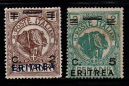 S211.-. ERITREA - 1922 - SC#: 58,59 - MINT - OVERPRINTED / SURCHARGED - Eritrea