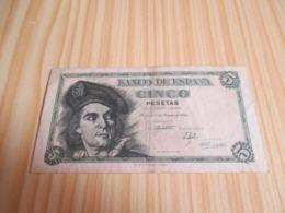 Espagne.Billet 5 Pesetas 05/03/1948. - 5 Pesetas