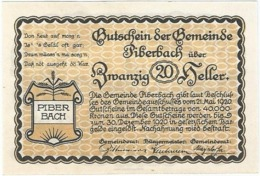 Austria (NOTGELD) 20 Heller Piberbach  Kon-fs 746 A.2  UNC Ref 3617-1 - Austria
