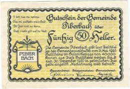 Austria (NOTGELD) 50 Heller Piberbach  Kon-fs 746 A.3  UNC Ref 3618-1 - Austria
