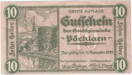 Austria (NOTGELD) 10 Heller Pöchlarn  Kon-fs 755 III.1  UNC Ref 3619-1 - Austria
