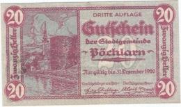 Austria (NOTGELD) 20 Heller Pöchlarn  Kon-fs 755 III.3  UNC Ref 3620-1 - Austria