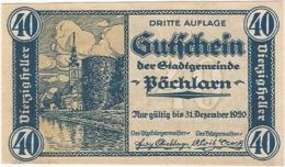 Austria (NOTGELD) 40 Heller Pöchlarn  Kon-fs 755 III.5 Escritura Verde UNC Ref 3622-1 - Austria