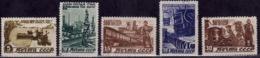 Russia, 1946, Post War Industies, Sc#1075-1079, Used - 1923-1991 URSS