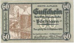 Austria (NOTGELD) 60 Heller Pöchlarn  Kon-fs 755 III.7 Escritura Verde UNC Ref 3624-1 - Austria
