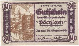 Austria (NOTGELD) 80 Heller Pöchlarn  Kon-fs 755 III.8  UNC Ref 3625-1 - Austria