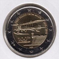Malta   2 Euro Commemorative 2015  UNC   Eerste Vlucht - Malte