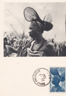 PS / Pub Labo LA BIOMARINE Cpsm 10x15 Série A.O.F (XV) GUINEE FRANCAISE.  Femme Foulah   + Timbre - Französisch-Guinea