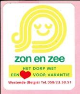 Sticker - Zon En Zee - Het Dorp Met Een Hart Voor Vakantie - Westende - Stickers