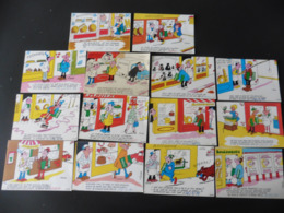 LOT   DE   14  CARTES  POSTALES     HUMOUR   SUR  LES  METIERS - 5 - 99 Cartes