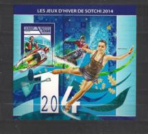 Olympische Spelen  2014 , Tschad  - Blok Postfris - Winter 2014: Sochi