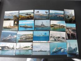 LOT   DE    32   CARTES  POSTALES      BATEAUX   DE  GUERRE - 5 - 99 Cartes