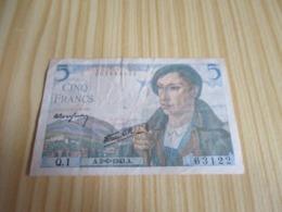 France.Billet 5 Francs Berger 02/06/1943. - 5 F 1943-1947 ''Berger''