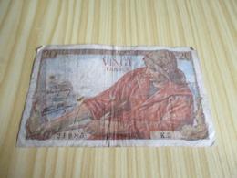 France.Billet 20 Francs Pêcheur 12/02/1942. - 1871-1952 Antiguos Francos Circulantes En El XX Siglo