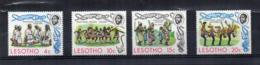 Leshoto - 1975 - Danze Tradizionali - 4 Valori - Nuovi - Linguellati - (FDC16847) - Lesotho (1966-...)