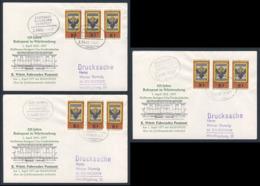 Deutschland Germany 1977 3x Brief Cover - 125 Jahre Bahnpost In Württemberg 1. April 1852 - Treinen