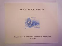 GP 2019 - 1999  MONACO  :  Epreuve SOUVENIR  16-11-1987   N°4097  XXX - Monaco