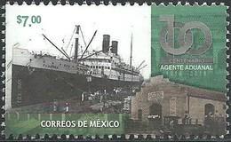 2018 MÉXICO Centenario Del Agente Aduanal Mexicano, BARCO DE CARGA SELLO MNH, Centenary Of The Mexican Customs Agent - Mexico