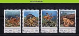 Nfd08s FAUNA 'VISSEN FISH FISCHE' COMMON OCTOPUS MARINE LIFE PALAU 2012 PF/MNH # - Meereswelt