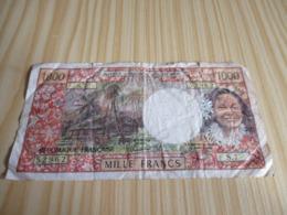 Papeete.Billet 1000 Francs. - Francia