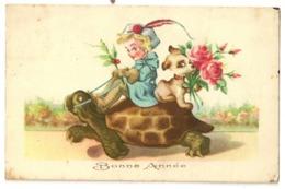"""28 - Tortue """" Bonne Année - Schildpadden"""